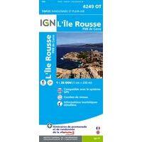 IGN Wandelkaart 4249ot L'Île Rousse