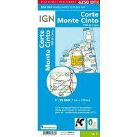 IGN Wandelkaart 4250OTR Corte & Monte Cinto