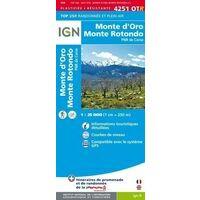 IGN Wandelkaart 4251OTR Monte D'Oro & Monte Rotondo