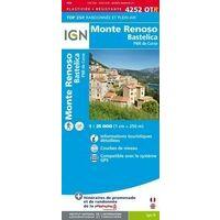 IGN Wandelkaart 4252OTR Monte Renoso & Bastelica