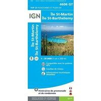 IGN Wandelkaart 4606GT Saint Martin & Saint Barthélemy