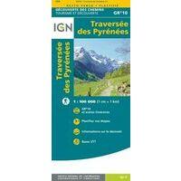 IGN Wandelkaart GR10 Traversees Des Pyrenees