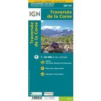 IGN Wandelkaart GR20 Corsica Traversée De La Corse