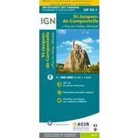 IGN Wandelkaart 1 GR65 Santiago: Traject Le Puy-en-Velay - Moissac