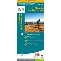 IGN Wandelkaart GR70 Chemin De Stevenson