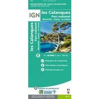 IGN Wandelkaart Les Calanques