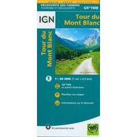 IGN Wandelkaart Tour Du Mont Blanc