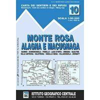 Istituto Geografico Centrale Wandelkaart 10 Monte Rosa 1:50.000