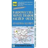 Istituto Geografico Centrale Wandelkaart 104 Bardonecchia 1:25.000