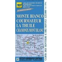 Istituto Geografico Centrale Wandelkaart 107 Monte Bianco Mont Blanc