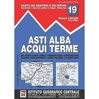 Istituto Geografico Centrale Wandelkaart 19 Asti Alba 1:50.000