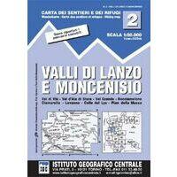 Istituto Geografico Centrale Wandelkaart 2 Valli Di Lanzo 1:50.000
