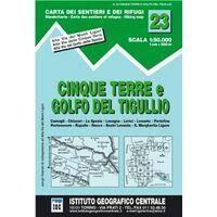 Istituto Geografico Centrale Wandelkaart 23 Cinque Terre 1:50.000