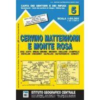 Istituto Geografico Centrale Wandelkaart 5 Cervino Matterhorn 1:50.000