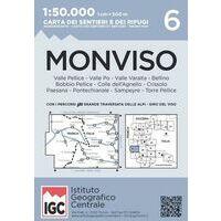 Istituto Geografico Centrale Wandelkaart 6 Monviso 1:50.000