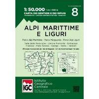 Istituto Geografico Centrale Wandelkaart 8 Alpi Marittime E Liguri 1:50.000