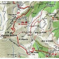 Istituto Geografico Centrale Wandelkaart 110 Lanzo Viu 1:25.000