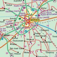 ITMB Wegenkaart Yucatan Mexico