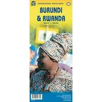 ITMB Wegenkaart Rwanda & Burundi