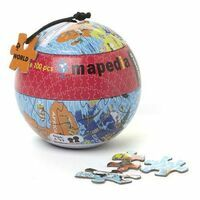Mapedia Bolvormige Puzzel Wereldbol