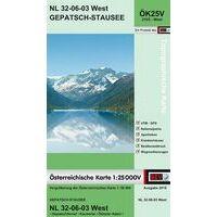Bundesamt Für Eich- Und Vermessungswesen Topografische Kaart 2103WK Gepatsch-Stausee