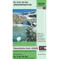 Bundesamt Für Eich- Und Vermessungswesen Topografische Kaart 3225OK Dreiherrnspitze
