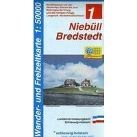Landesamt Schleswig-Holstein Wandelkaart 1 Niebull - Bredstedt
