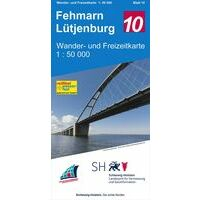Landesamt Schleswig-Holstein Wandelkaart 10 Fehmarn - Lutjenburg 1:50 000