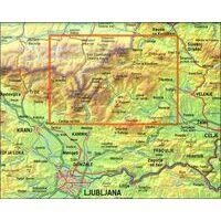 Kartografija Wandelkaart Kamnische & Savinja Alpen