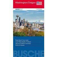 Busche Maps Wegenkaart Washington En Oregon