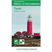 Kaartenenatlassen Topografische (wandel)kaart Texel