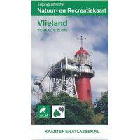 Kaartenenatlassen Topografische (wandel)kaart Vlieland