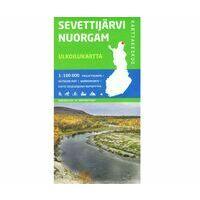 Karttakeskus FInland Wandelkaart Sevettijärvi Nuorgam