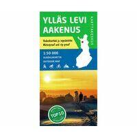 Karttakeskus FInland Wandelkaart Ylläs - Levi Aakenus