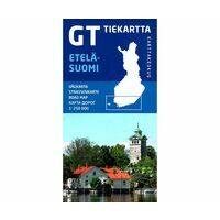 Karttakeskus FInland Wegenkaart Finland Zuid - Etelä-Suomi