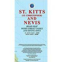 Kasprowski Maps Wegenkaart Saint Kitts & Nevis 1:30.000 -1:20.000
