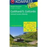 Kompass Wandelkaart 108 Gotthard - Grimsel