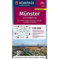 Kompass Fietskaart 3212 Münster Und Umgebung
