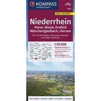 Kompass Fietskaart 3323 Niederrhein - Kleve - Wesel