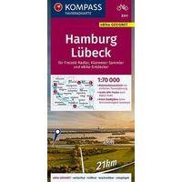 Kompass Fietskaart 3341 Hamburg - Lübeck