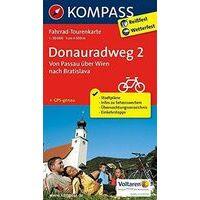 Kompass Fietskaart 7004 Donauradweg Deel 2 Passau - Bratislava