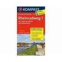 Kompass Fietskaart 7008 Rheinradweg Deel 1 Stein-Mannheim