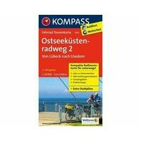 Kompass Fietskaart 7031 Ostseeküstenradweg Deel 2 Lübeck - Usedom