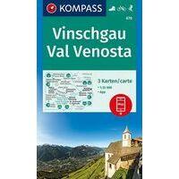 Kompass Wandelkaart 52 Vinschgau - Val Venosta
