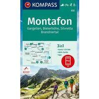 Kompass Wandelkaart 032 Montafon - Gargellen