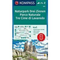 Kompass Wandelkaart 047 Drei Zinnen - Tre Cime Di Lavaredo