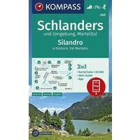 Kompass Wandelkaart 069 Schlanders - Martelltal