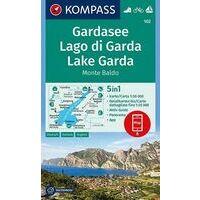 Kompass Wandelkaart 102 Gardasee - Monte Baldo