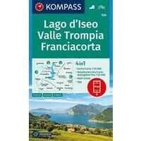 Kompass Wandelkaart 106 Lago D' Iseo - Valle Trompia