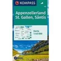 Kompass Wandelkaart 112 Appenzellerland - St.Gallen